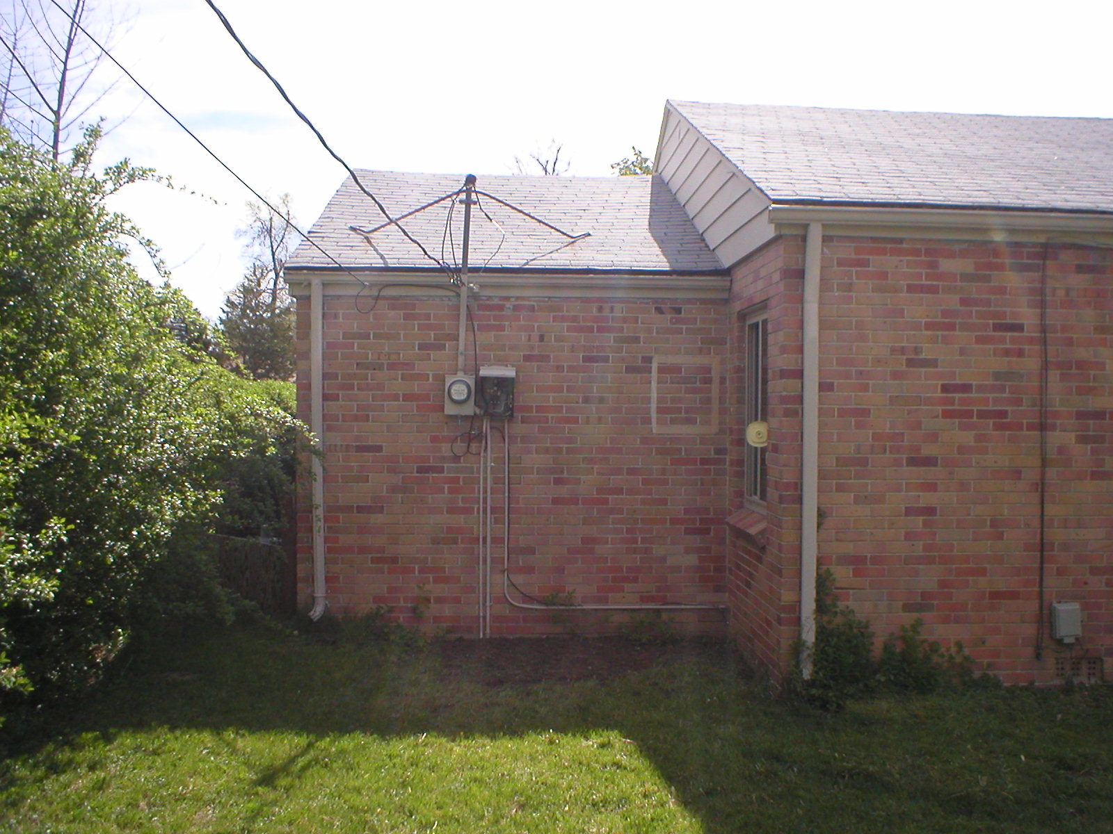 Original Exterior Electrical Service